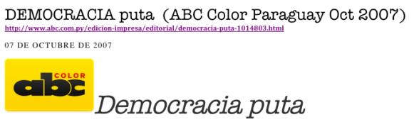 DEMOCRACIA PUTA