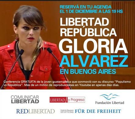 La POLITICOLOGA GUATEMALTECA en su primer visita a ARGENTINA