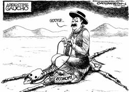 En el 2002, la devaluacion del 300% del peso argentino (1 peso=1 dolar) fue llamada por Steve hanke en su informe al Congreso de USA