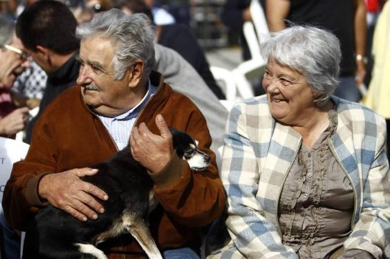 Jose Mujica y su Sra. Presidente y Senadora Chacareros