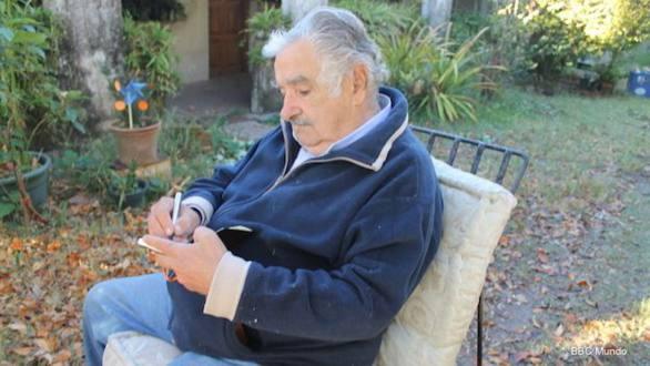 Presidente Mujica en su chacra