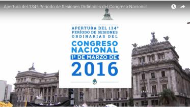 Mensaje del Presidente APERTURA DEL CONGRESO NACIONAL 1 de Marzo de 2016